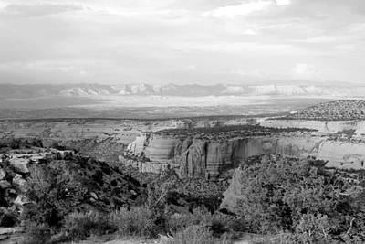 Photograph - Colorado National Monument Black And White by Mary Bedy