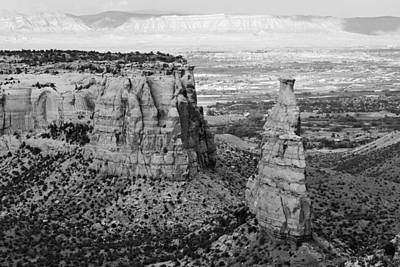 Photograph - Colorado National Monument Bw by Mary Bedy