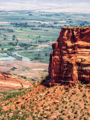 Canyon Painting - Colorado National Monument Grand Junction View by Christopher Arndt