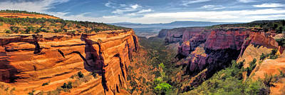 Canyon Painting - Colorado National Monument Red Canyon Panorama by Christopher Arndt