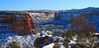 Photograph - Colorado National Monument Snow Canyon by Roena King