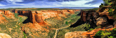 Colorado National Monument Ute Canyon Panorama Art Print by Christopher Arndt
