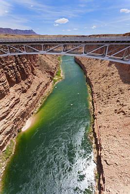 Arizona Photograph - Colorado River And Navajo Bridge by Alexey Stiop