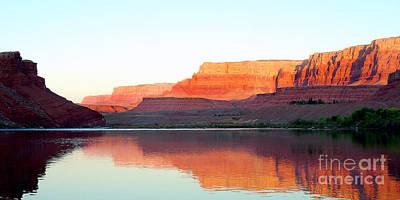 Colorado River At Dawn Panorama Art Print by Douglas Taylor