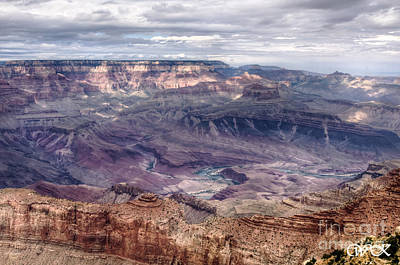 Colorado River At Grand Canyon Art Print