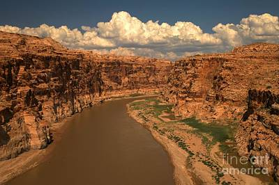Clouds Over Canyon Photograph - Colorado River Canyon by Adam Jewell