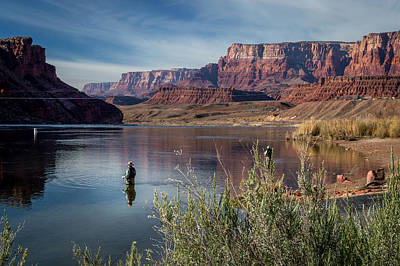 Colorado River Photograph - Colorado River Fisherman by Michael J Bauer