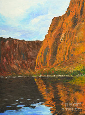 River Rafting Painting - Colorado River by Kate Sumners