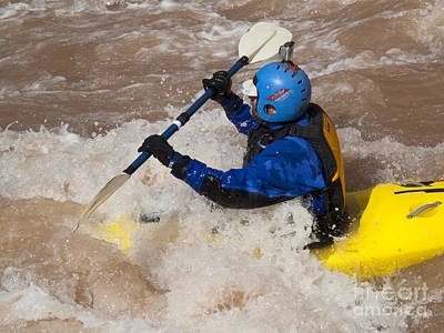 Photograph - Colorado River Kayaker by Jim West