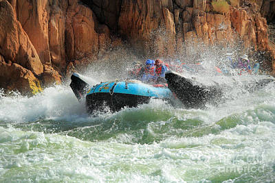 Whitewater Photograph - Colorado River Rafters by Inge Johnsson