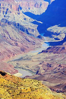 Colorado River Winding Through The Grand Canyon Art Print by Shawn O'Brien