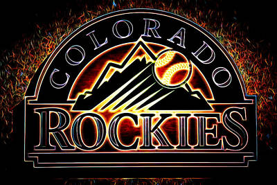 Coors Field Photograph - Colorado Rockies Logo by Stephen Stookey