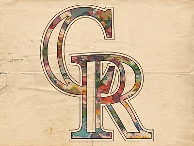 Rockies Painting - Colorado Rockies Logo Vintage by Florian Rodarte