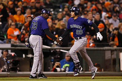 Photograph - Colorado Rockies V San Francisco Giants by Lachlan Cunningham