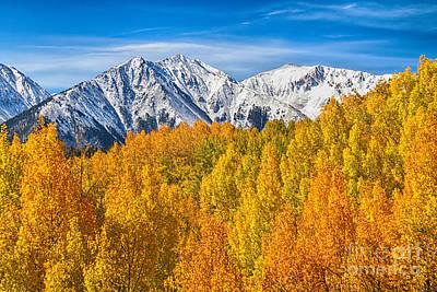 Aspen Trees Photograph - Colorado Rocky Mountain Autumn Beauty by James BO  Insogna