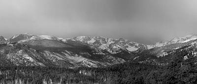Weather Photograph - Colorado Rocky Mountain Continental Divide Panorama Bw Pt2 by James BO  Insogna