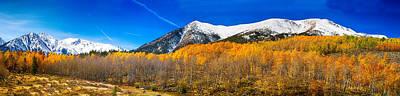 Photograph - Colorado Rocky Mountain Independence Pass Autumn Panorama by James BO Insogna