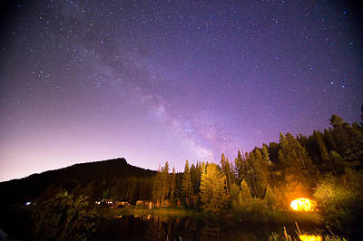 Stars Photograph - Colorado Rocky Mountain Milky Way View  by James BO  Insogna