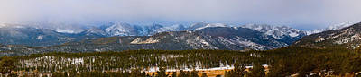 Photograph - Colorado Rocky Mountain National Park Panorama Winter View by James BO Insogna
