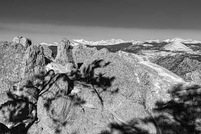 Photograph - Colorado Rocky Mountain Scenic View In Black And White by James BO  Insogna