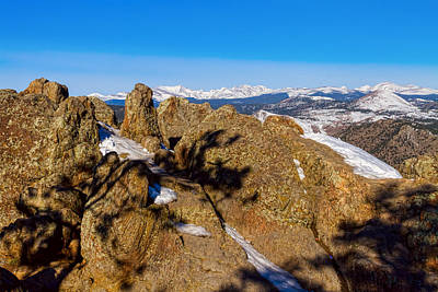 Snowy Photograph - Colorado Rocky Mountain Scenic View by James BO  Insogna