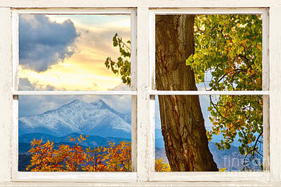 Colorado Rocky Mountains Rustic Window View Original