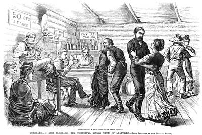 Bartender Painting - Colorado Saloon, C1880 by Granger