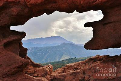 Photograph - Colorado Siamese Twins Pikes Peak View by Robert D  Brozek
