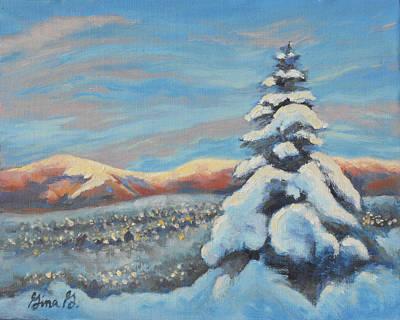 Colorado Snow Glow Art Print