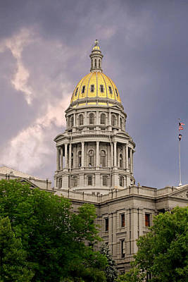 Political Photograph - Colorado State Capitol Building Denver Co by Christine Till