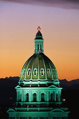 Colorado State Capitol Building Denver Art Print by Panoramic Images