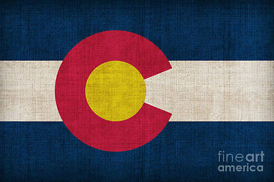 Landmarks Painting Royalty Free Images - Colorado state flag Royalty-Free Image by Pixel Chimp