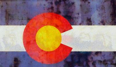Colorado State Flag Weathered And Worn Art Print by Dan Sproul
