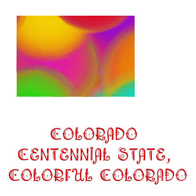 Digital Art - Colorado State Map Collection 2 by Andee Design