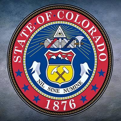 Elm Digital Art - Colorado State Seal by Movie Poster Prints