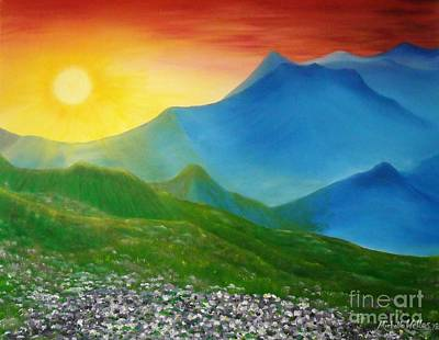 Painting - Colorado Sunset by Michelle Welles
