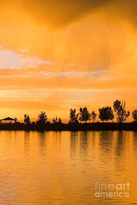 Steven Krull Royalty-Free and Rights-Managed Images - Colorado Sunset by Steven Krull