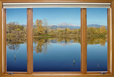 Photograph - Colorado Waterfront Reflections Wood Window View by James BO Insogna