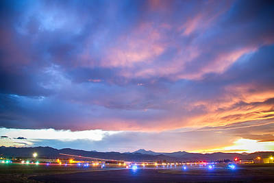 Photograph - Colorado Vance Brand Airport Sunset View by James BO  Insogna