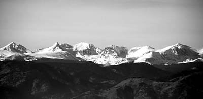 Photograph - Colorado's Indian Peaks In Snow by Thomas Samida