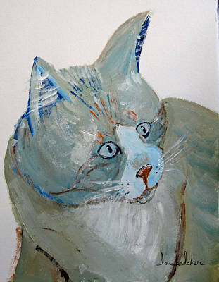 Cat Painting - Colorcat5 by Lou Belcher