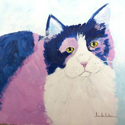 Cat Painting - Colorcat6 by Lou Belcher