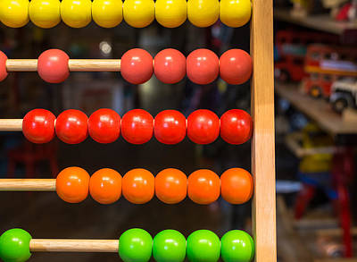 Accountancy Photograph - Colored Abacus by Chay Bewley