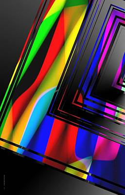 Effect Painting - Colored Abstract Geometry by Mario Perez