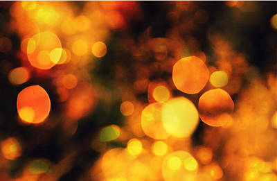 Art Print featuring the digital art Coloured Bokeh Lights by Fine Art By Andrew David