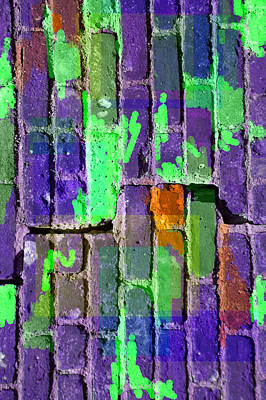 Colored Brick And Mortar 4 Art Print by Lynda Lehmann