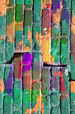 Digital Art - Colored Brick And Mortar 3 by Lynda Lehmann