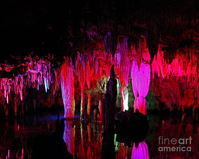 Photograph - Colored Caverns by Pete Klinger
