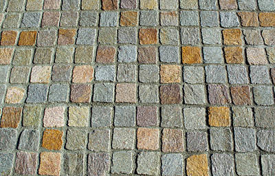 Photograph - Colored Checkered Pavement by Tikvah's Hope