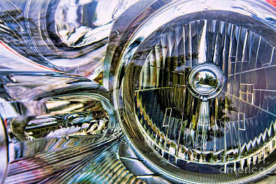 Photograph - Colored Chrome Abstract by Lawrence Burry